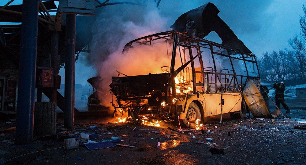 Autobus v Doněcku