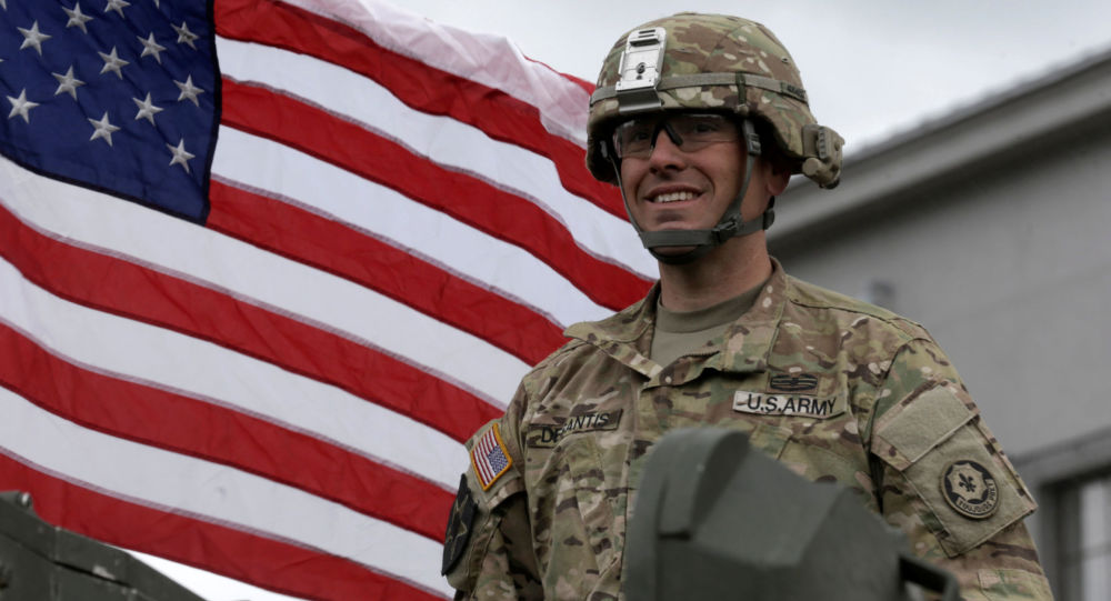Americký voják v Lotyšsku