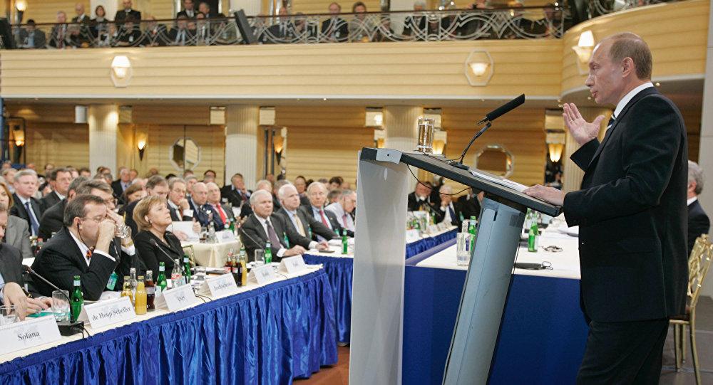 Projev Vladimira Putina na Mnichovské konferenci v roce 2007