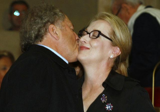 Meryl Streepová a její manžel Don Gummer