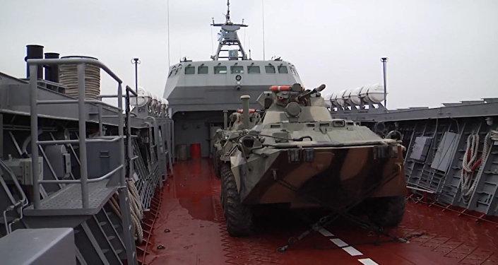 Bojový výcvik posádek výsadkových člunů Baltské flotily