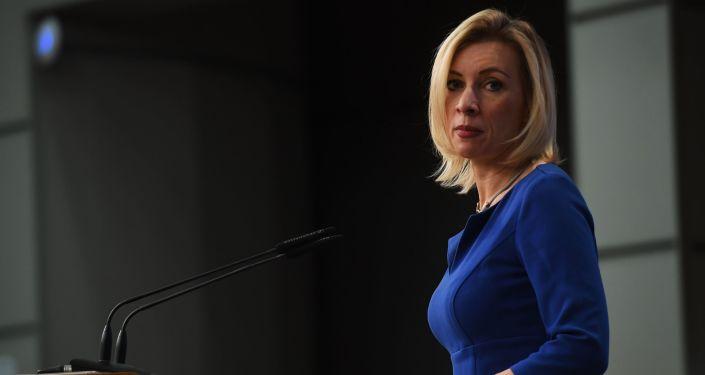Oficiální mluvčí ruského zahraničněpolitického rezortu Marie Zacharovová