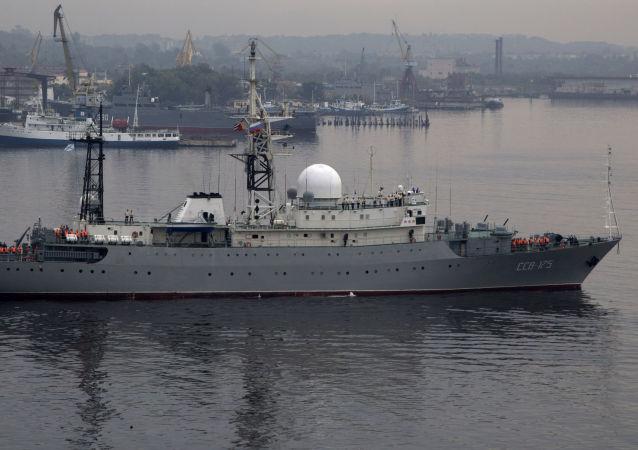 Ruská průzkumná loď Viktor Leonov