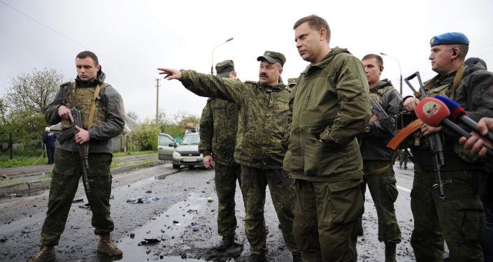 Lídr DLR Alexandr Zacharčenko v Doněcké oblasti