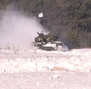 Připrava k Tankovému biatlonu