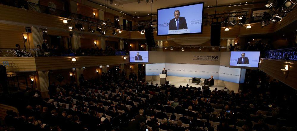 Sergej Lavrov na bezpečnostní konferenci v Mnichově