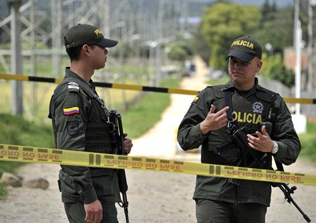 Kolumbijská policie v Bogotě. Ilustrační foto