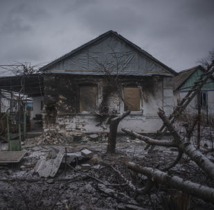 Dům zničený v Doněcké oblasti