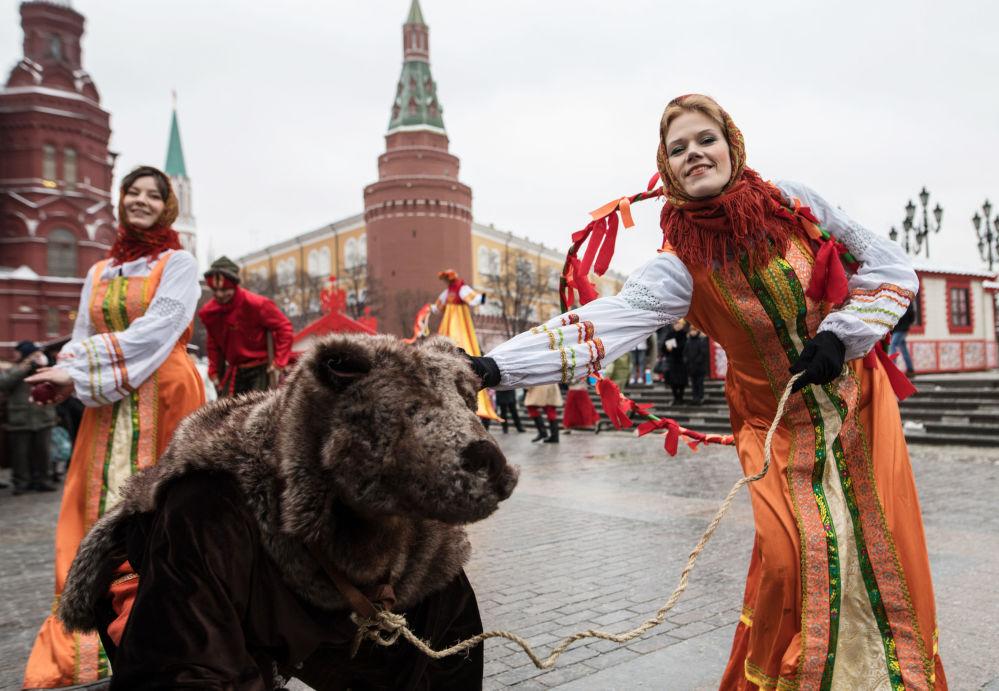 Zahájení festivalu Moskevský masopust