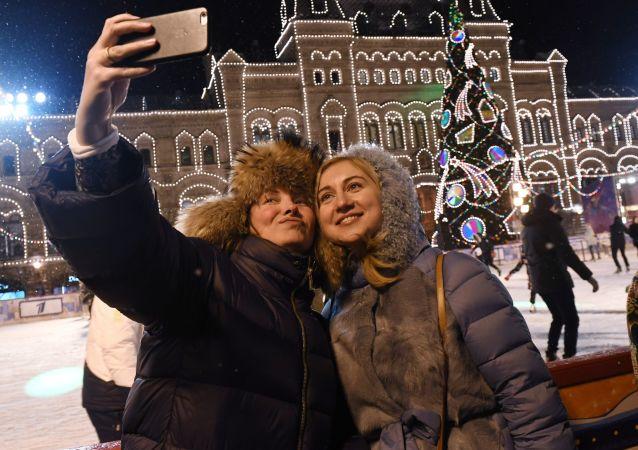 Kluziště na Rudém náměstí v Moskvě