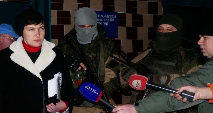 Naděžda Savčenková během návštěvy v DLR
