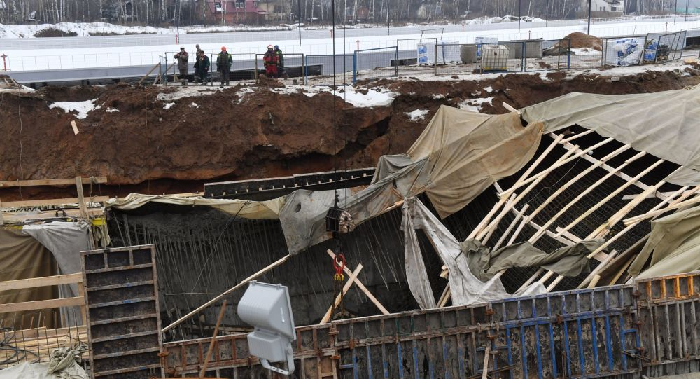 Na Kalužské třídě v Nové Moskvě se rozpadl budovaný tunel
