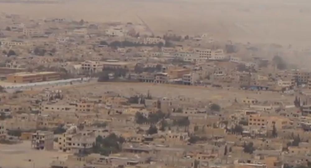 Záběry z osvobozené Palmýry