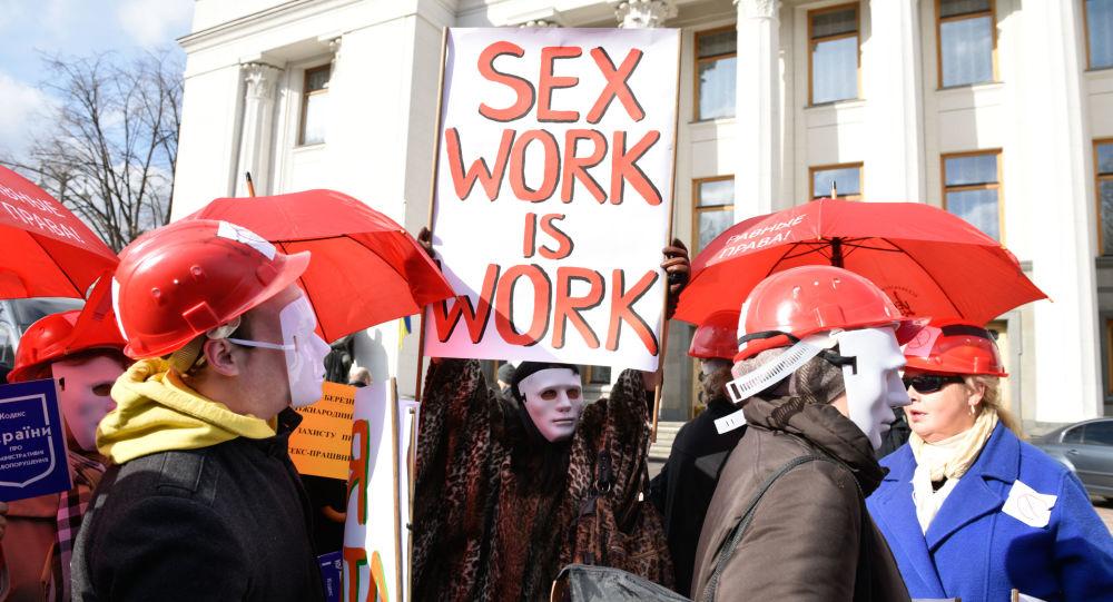 Průvod prostitutek pochodoval Kyjevem
