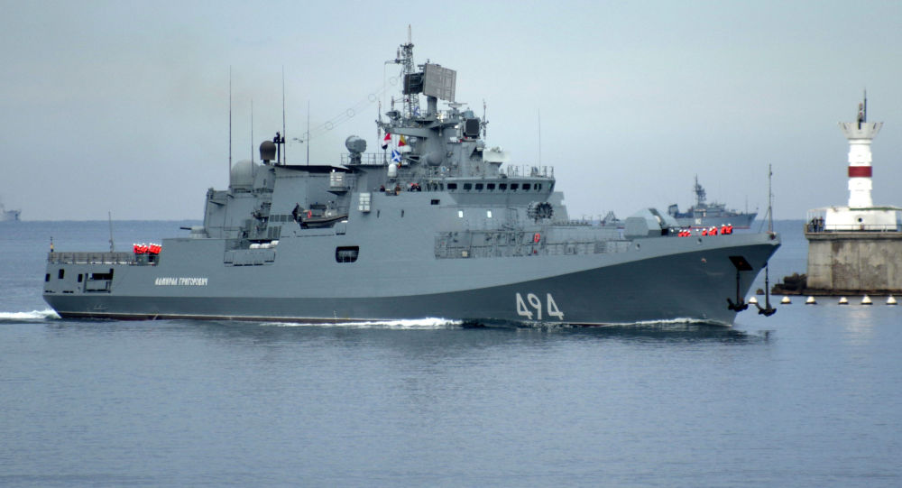 Nejnovější fregata Černomořské flotily Admirál Grigorovič