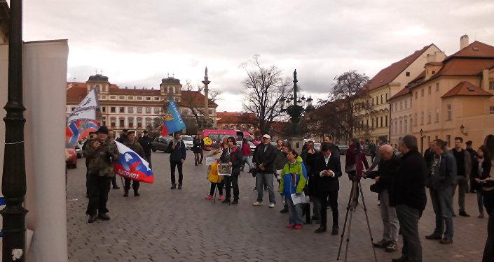 Mítink na Hradčanském náměstí