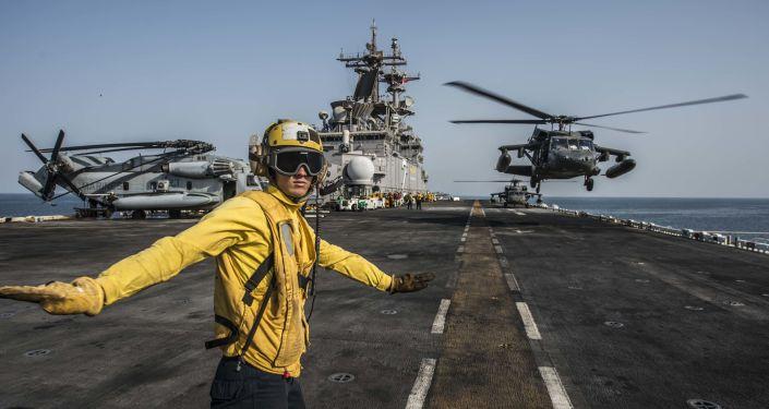 Americká lod` v Perském zálivu