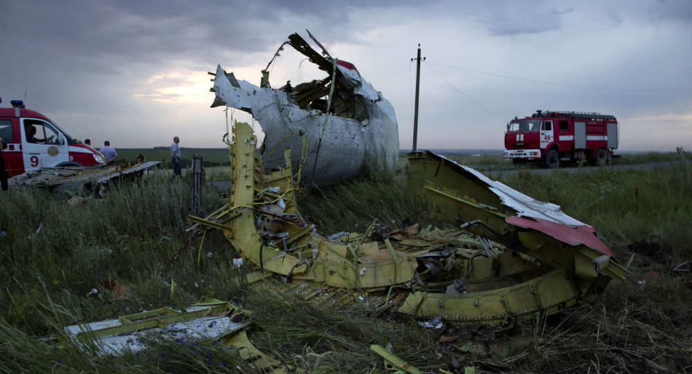 Místo havárie malazijského Boeingu