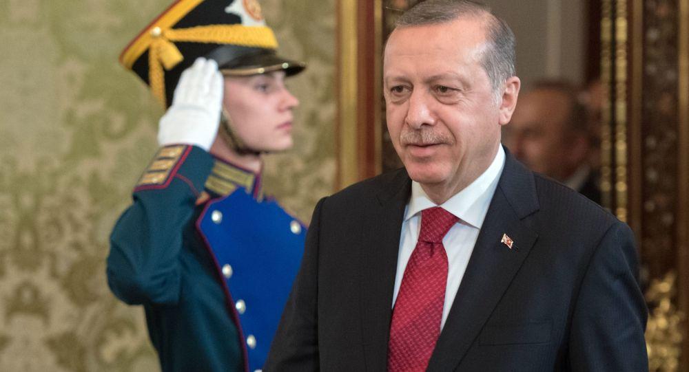 Turecký prezident Recep Tayyip Erdogan na návštěvě v Rusku