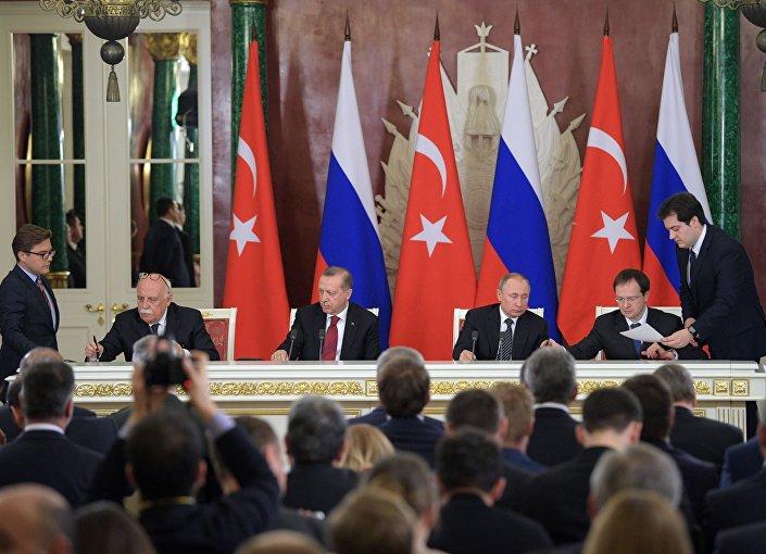 Prezident Turecka Recep Erdogan a prezident Ruska Vladimir Putin