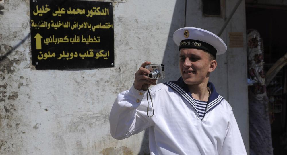 Ruský námořník v Tartusu