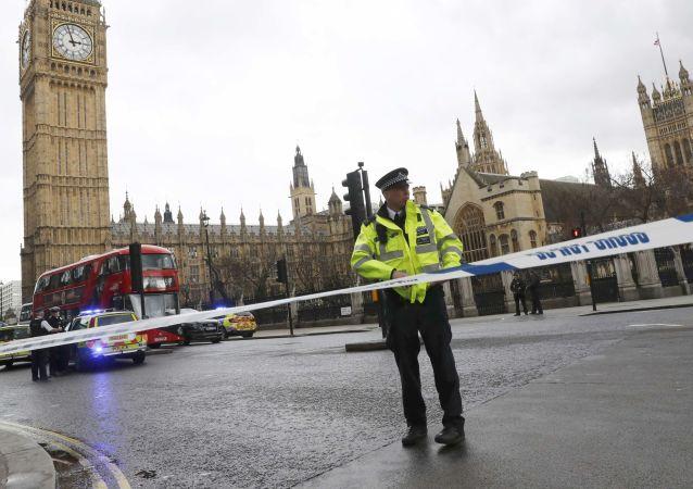 Místo střelby u britského parlamentu