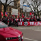 Protestující v Halle uvítali kancléřku SRN výkřiky Heil Merkelová