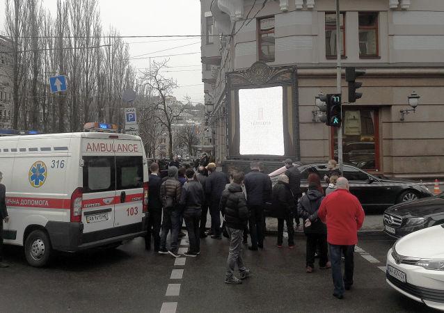 Místo vraždy bývalého poslance Státní dumy Děnise Voroněnkova