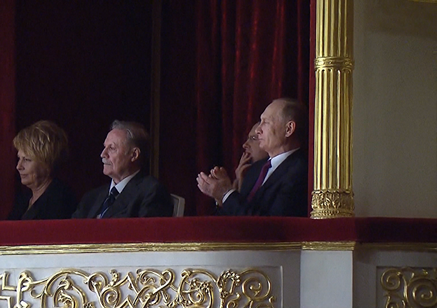 Ruský prezident Vladimír Putin navštívil Malé divadlo