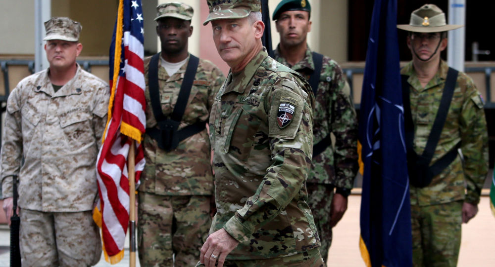 Velitel sil USA v Afghánistánu generál John Nicholson