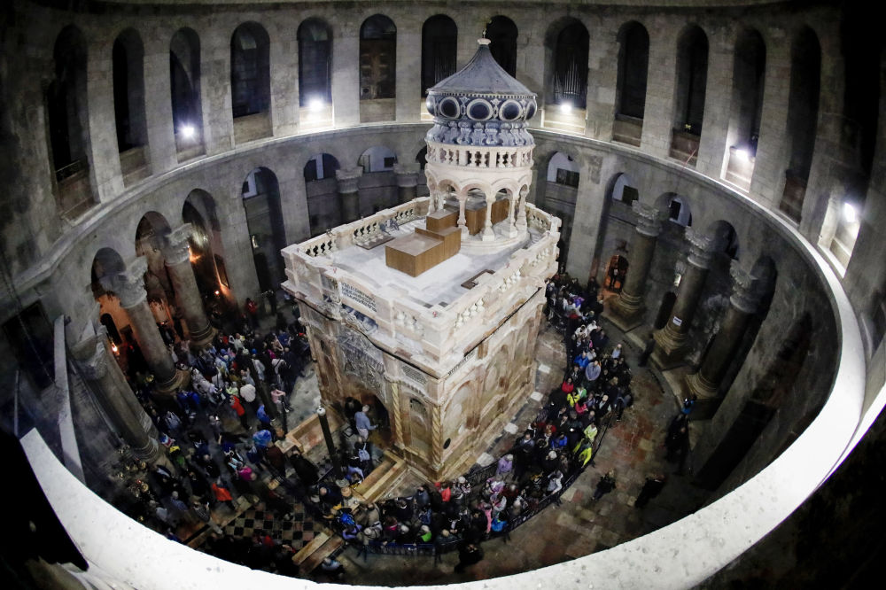 Zrestaurovaná kaple Božího hrobu v Jeruzalému