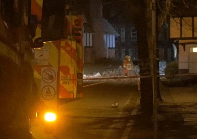 Záběry z místa exploze na západě Velké Británie
