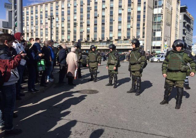 Nepovolená akce v Moskvě