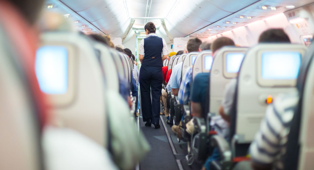 Letuška na palubě letadla