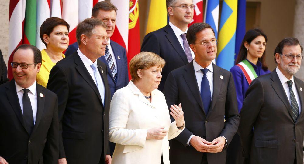 Lídři EU během Římského summitu