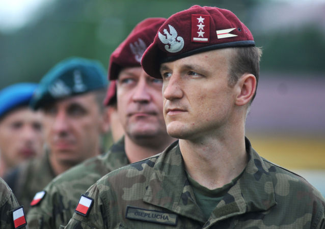 Polští vojáci během cvičení Rapid trident 2016