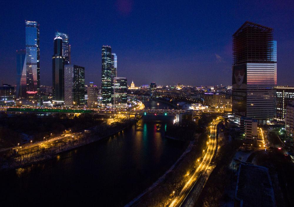 Mrazivá Moskva z ptačí perspektivy