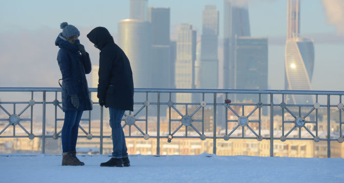 Pohled na obchodní čtvrť Moskva City. Ilustrační foto