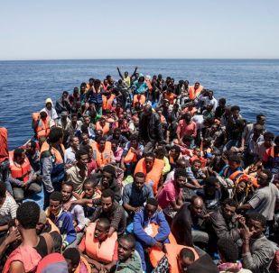 Migranti u pobřeží Libye. Ilustrační foto