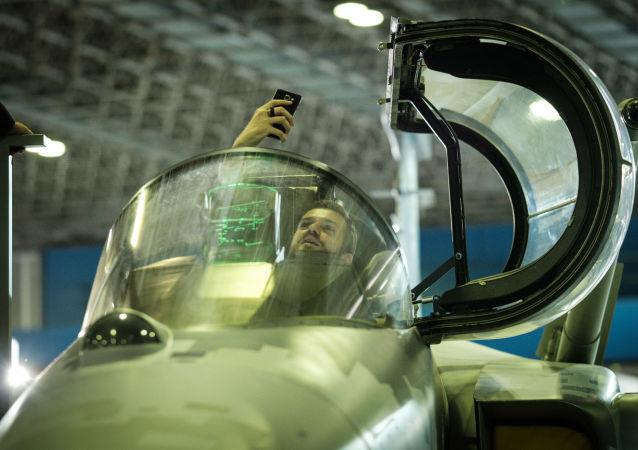 SAAB Gripen E. Výstava LAAD 2017, Brazílie