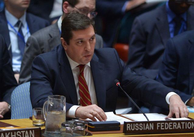 Zástupce stálého představitele Ruska při OSN Vladimir Safronkov