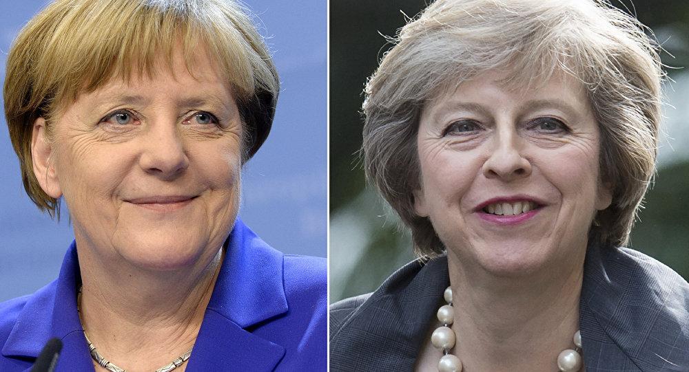 Britská premiérka Theresa Mayová a německá kancléřka Angela Merkelová