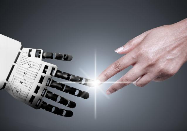 Ruce robota a člověka