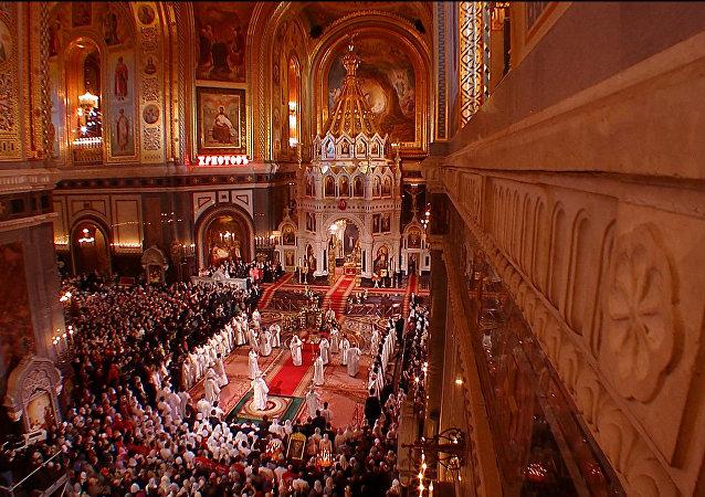 Velikonoční bohoslužba v Moskvě