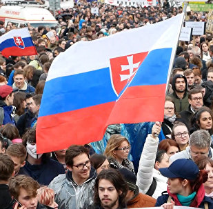 Protestní průvod proti korupce