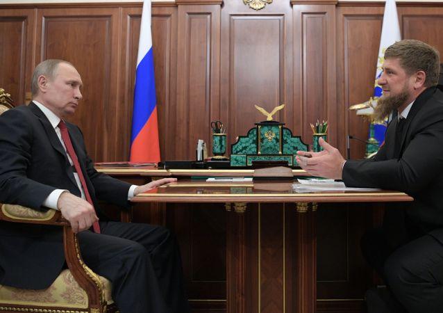 Vladimir Putin a Ramzan Kadyrov