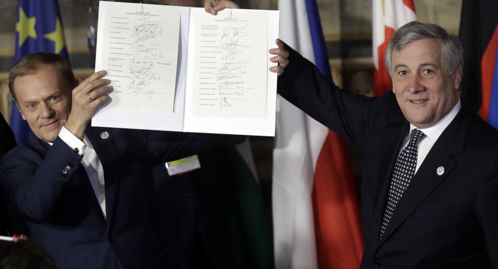 Předseda Evropské rady a Evropského parlamentu Antonio Tajani. Archivní foto