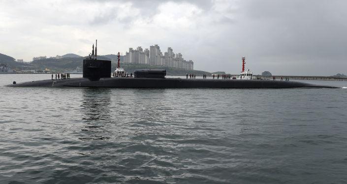 Atomová ponorka USA Michigan v jihokorejském přístavu Pusan
