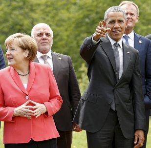 Angela Merkelová, Barack Obama a Francois Hollande