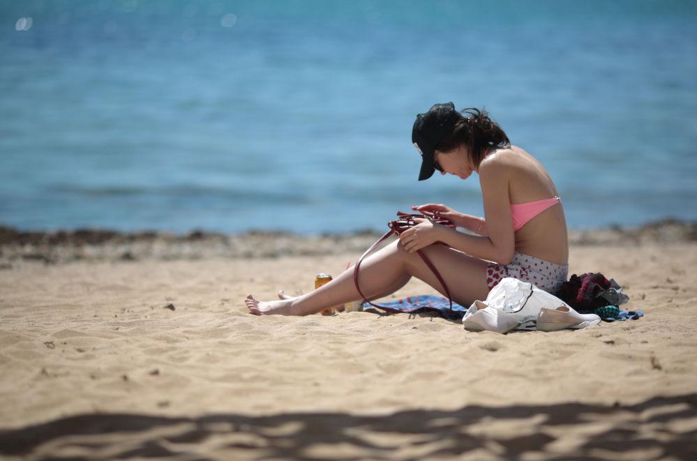 Zahájení plážové sezóny na Krymu